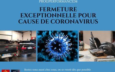 Fermeture exceptionnelle - Coronavirus- Soyez prudents, restez chez vous