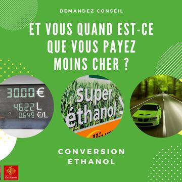 Vous souhaitez passer à l'Ethanol ? Faites le choix entre la reprogrammation ou le boitier