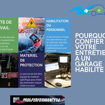 Votre garage Progperformance34 entretient et répare votre véhicule hybride et électrique à Montpellier