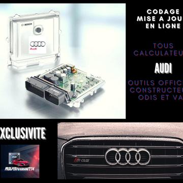 Codage et mise à jour en ligne tous calculateurs, procédure avec outils officiels constructeurs marque AUDI